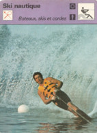 AS / Vintage SPORT Ancienne IMAGE Carte De Collection 1978  / SKI NAUTIQUE     Bateaux Skis Et Cordes - Altri