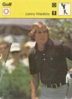 AS / Vintage SPORT Ancienne IMAGE Carte De Collection 1978  / GOLF   Lanny WADKINS - Apparel, Souvenirs & Other