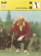 AS / Vintage SPORT Ancienne IMAGE Carte De Collection 1978  / GOLF  Jack NICKLAUS - Apparel, Souvenirs & Other
