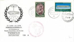 Island 1980 Reykjavik - Briet Bjarnhedinsdottir - LZ1 Zeppelin 1900 - Svalbardruta - Lettres & Documents