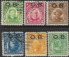 Philipines 1931   Sc#O5-6, O8-9, O12 Used, O13 MH 6 Diff   2016 Scott Value $3.25 - Philippinen