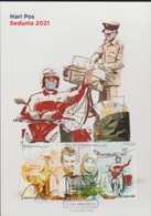 Malaysia 2021 World Post Day Postman Covid Coronavirus Mask Maxicard Official Pos Malaysia - Maleisië (1964-...)