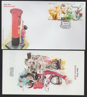 Malaysia 2021 World Post Day Postman Covid Coronavirus Mask FDC First Day Cover FDC Information Sheet Included - Malaysia (1964-...)