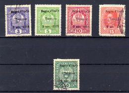 Trentin 1918, Tp Autriche Surchargé, 1-2-4-6-11 Ob, Cote 67 € - Trentino
