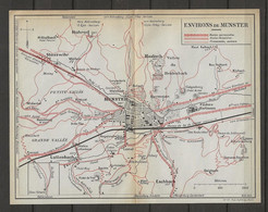 CARTE PLAN 1910 - ENVIRONS De MUNSTER - HOHROD - LUTTENBACH - CHEMINS DE FER - HASLAG - ESCHBACH - STOSSWIHR - Topographical Maps