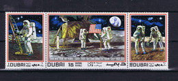 Dubai Space 1969 Apollo 11 Triptych. - Dubai