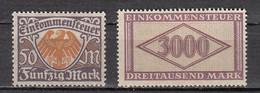 Allemagne Reich - Timbres Impôt Sur Le Revenu - Einkommensteuer * - Ungebraucht
