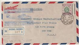 HONG - KONG : PA . REC . POUR SAN FRANCISCO . 1937 . - Covers & Documents