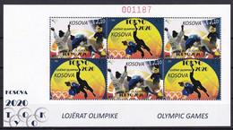 KOSOVO 2021,OLYMPIC GAMES 2020,SPORT,JUDO,SPORT,SHEET,MNH - Kosovo