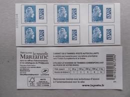 2018  BC1603-C1   MARIANNE L ENGAGEE TARIF EUROPE CARNET NON PLIE DUREE D UTILISATION TRES COURTE - Commemorrativi