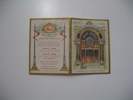 Chromos Calendrier 1900 Parfumerie Gelée Frères Récompenses Obtenues Expositions Univer. - Autres