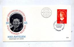 Lettre Fdc  1965 Reine - Niederländische Antillen, Curaçao, Aruba