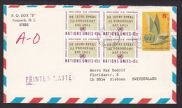 United Nations New York: Stationery Airmail Cover To Switzerland, 1961, 4 Extra Stamps, Disarmament, Logo (minor Damage) - Briefe U. Dokumente