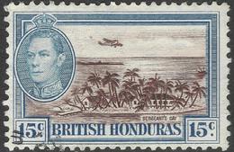 British Honduras. 1938-47 KGVI. 15c Used SG 156 - British Honduras (...-1970)