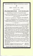 Doodsprentje - Florimond Eeckman - Watervliet 1854 - Ieper 1930 Met Foto. - Devotion Images