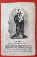 Anno 1844 - Doodsprentje Décés - LITHO - VAN NOYEN SEGERS VAN DEN WYNGAERT Lier Contich Kontich - 11 Cm X 7 Cm - Andachtsbilder