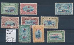 BELGIAN CONGO 1918 RED CROSS COB 72/80 MNH SANS CHARNIERE POSTFRIS - 1894-1923 Mols: Ungebraucht
