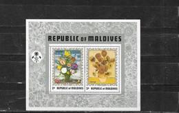 Maldives Nº Hb 15 Un Poco Sucia  Inferior Derecha - Maldive (1965-...)