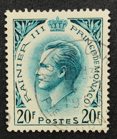 MCO0425AU - Prince Rainier III - 20 F Used Stamp - Monaco - 1957 - Gebruikt
