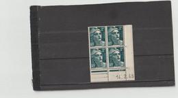 N° 713 - 2F Marianne De GANDON -  C De C+D - 1° Tirage Du12.2.45 Au 9.3.45 - 14.02.1945 - - 1940-1949