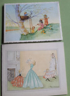 Verviers 2 CARTES De NAISSANCE /Geboortekaartjes Claudine REMY ° 1949 + Chantale REMY ° 1955 - Birth & Baptism