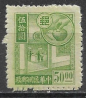 China 1945. Scott #575 (MH) Allegory Of Savings - 1912-1949 Republik