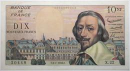 France - 10 Francs - 2-7-1959 - PICK 142a.2 / F57.2 - SUP - 10 NF 1959-1963 ''Richelieu''
