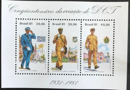 Brasil - C2/15 - MNH - 1981 - Michel Blok 45 - 50j Post En Telegrafie - Blocks & Sheetlets