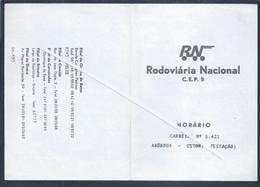Horário Da Rodoviária Nacional De Abóboda - Estoril 1980. Tires. Livramento. Alapraia. Schedule Of The National Bus Stat - Europa