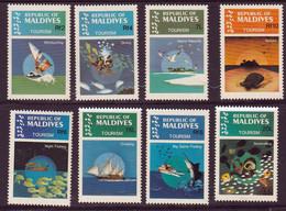 MALDIVES - Tourisme, Surf, Plongée, îles, Nature, Pêche De Nuit, Voile, Pêche Au Gros - 1984 - MNH - Maldive (1965-...)