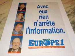 ANCIENNE PUBLICITE RIEN N ARRETE L INFORMATION AVEC EUROPE 1 1995 - Sport Invernali