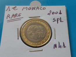 1 EURO MONACO 2001 Unc - Ref. N 41  ( 2 Photos ) - Monaco