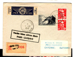 52594 - PARIS - CAYENNE Directe - 1927-1959 Brieven & Documenten
