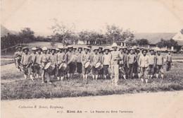 VIETNAM. KIEN AN, LA NOUBA DU 5me TONKINOIS. CARTE POSTALE ECRIT ANNEE 1918.- LILHU - Vietnam