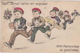 Humour Enfant Postier Livraison Lettre Colis Ed Belge - CPA 9x14 BE - Humorkaarten