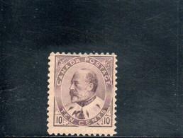 CANADA 1903-9 * - Unused Stamps