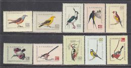 Romania 1959 - Singing Birds, Mi-Nr. 1780/89, MNH** - Nuevos