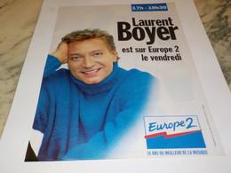 ANCIENNE PUBLICITE LAURENT BOYER  SUR EUROPE 2 1997 - Unclassified