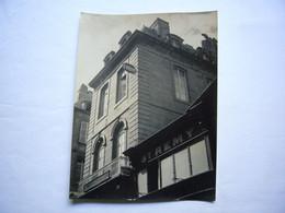 Photo Originale Estampillée Jean Roubier Une Maison à St Malo 17 X 23 Cm - Luoghi