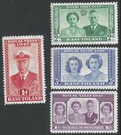 Basutoland. 1947 Royal Visit. MH Complete Set. SG32-35 - 1933-1964 Crown Colony