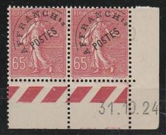 Frankrijk  Pré Obit 48 Paire Semeuse ** 31/10/1924 - ....-1929