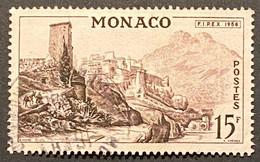 MCO0448U - International Stamp Exhibition FIPEX In New York - 15 F Used Stamp - Monaco - 1956 - Gebruikt