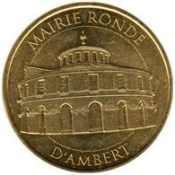 63-2380 - JETON TOURISTIQUE MDP - Mairie Ronde D'Ambert - 2016.1 - 2016