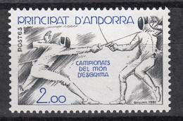 ANDORRA (FR) : 296 – World Champ. Fencing 1981 (escrime) ** MNH. - Ungebraucht