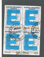 ITALIA REPUBBLICA  - UNIF. 2150  -   1994 ELEZIONI EUROPEE IN QUARTINA   -            USATO - Blocchi & Foglietti
