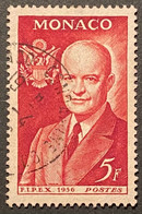 MCO0447U - International Stamp Exhibition FIPEX In New York - 5 F Used Stamp - Monaco - 1956 - Gebruikt