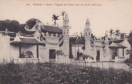 TONKIN, HANOÏ, PAGODE DES FIEURS PRÈS DU JARDIN BOTANIQUE. CARTE POSTALE, CIRCA 1905's, NON CIRCULEE.- LILHU - Vietnam
