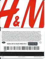 Carte Cadeau  - H&M . - Gift Cards