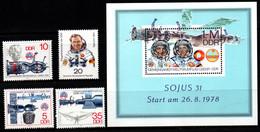 Q012F - DDR - 1978 - SC#: 1945-1949 - MNH - 1ST GERMAN COSMONAUT ON RUSSIA MISSION - Europa
