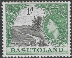 Basutoland. 1954-58 QEII. 1d MH SG44 - 1933-1964 Crown Colony